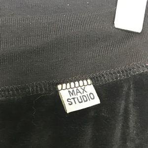Max Studio Pants - Max Studio Black Velvet Jogger Track Pants A100550